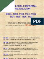 Mineria Ilegal e Informal Formalizacion Humberto Martinez