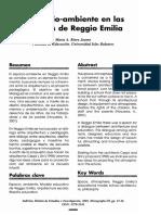 Espacio ambiente en las escuelas Reggio Emilia