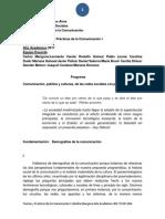 Teorías y Prácticas de La Comunicación I Cátedra Mangone Programa 2017