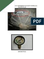 Fotos Abanico de Enfriamiento de Aceite Hidráulico y Manometro