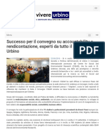 Successo per il convegno su accountability e rendicontazione - Vivere Urbino.it, 22 settembre 2018