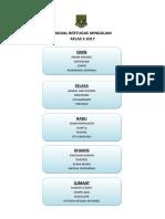 Jadual Bertugas Kelas 4A 2015