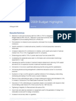 2009 Budget Highlights - Final