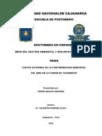 Costos Externos de La Contaminacion Ambiental Del Aire en La Ciudad de Cajamarca