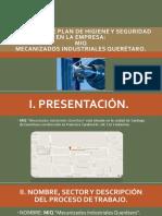 Proyecto Hig y Seg Presentación