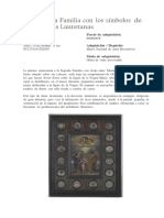 La Sagrada Familia Con Los Símbolos de Las Letanías Lauretanas