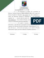 Certificado de Domicilio S-t