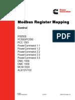 Modbus Register Mapping
