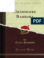 Bambara, Grammaire (Sauvant) (1913)