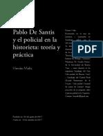 Pablo De Santis y el policial en la historieta