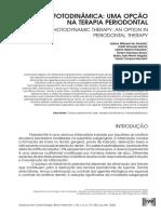Terapia Fotodinâmica Uma Opção Na Terapia Periodontal