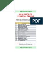 Relacion Personal de Baja