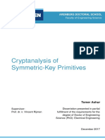 Cryptanalysis of Symmetric-Key Primitives