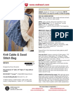 K-Cable n Seed Stitch Bag
