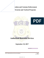 ICE Authorized Restraint Devices (Sept. 2017)
