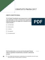 SIMULADO GRATUITO PM_BA 2017 Direito Constitucional