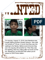 jose mendoza - wanted poster period 4