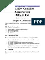 Compiler Design Notes
