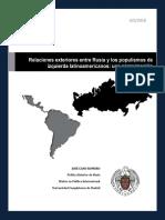 Relaciones exteriores entre Rusia y los populismos de izquierda latinoamericanos