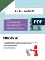 Derecho Laboral Despido segun los articulos de la ley