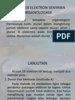 Aturan 18 Elektron Senyawa Organologam