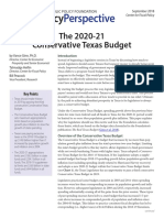 2018 09 PP the 2020 21 Conservative Texas Budget CFP Ginn Peacock Heflin