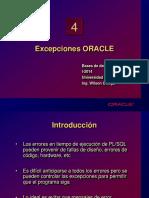 Excepciones ORACLE