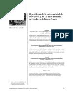 El problema de la universalidad de los valores y de las leyes