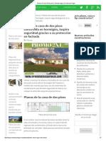 Planos de Casa de Dos Pisos, Fachada Segura _ Construye Hogar