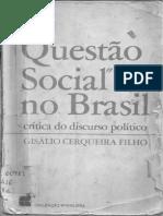 CERQUEIRA FILHO, Gisálio. A questão social - capítulo 1