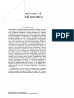 The Foundations of Constitutional Economics
