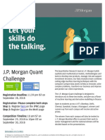 JPM Quant Challenge India Poster