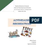 Adriana Carreño- Actividades Recreativas