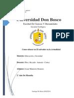 Como Educar en El Salvador en La Actualidad