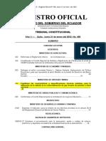 Registro Oficial #498 Caracterìsticas y Especificaciones tècnicas vàlvulas GLP Revisión CP