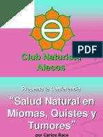 Charla Salud Natural en Miomas, Quistes y Tumores 2016