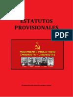 ESTATUTOS PROVISIONALES DEL MPML