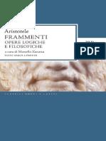 Aristotele - Frammenti. Opere Logiche e Filosofiche