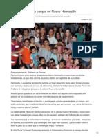 18-10-2017-Entrega Pavlovich Parque en Nuevo Hermosillo - SDPnoticias