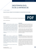 Rol de la KinesiteRapia en el tratamiento de la artrosis de Rodilla