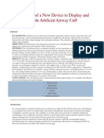 Bench Study of a New Device to Display and Maintain Stable Artificial Airway Cuff Pressure