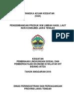Kak Pengembangan Produk Ikm Limbah Hasil Laut Non Konsumsi Jawa Tengah 2016