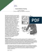 Towards Reflective Teaching
