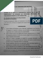 Acuerdo JUCOPO Comisiones