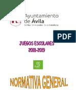 Normativa General 2018 2019