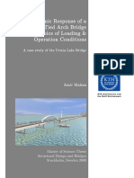 Dynamic Response of a Tied Arch Bridge