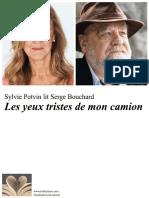 Affichette Lecteurs Serge Bouchard ¨Les yeux tristes de mon camion¨Sept 2018_vfinale