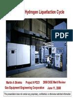 Licuefacción de hidrógeno