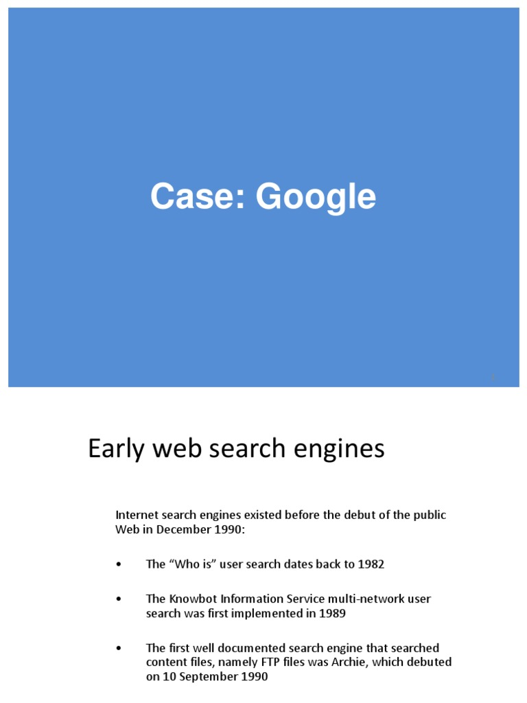 20171208 Google Case | Web Search Engine | Internet Search Engines