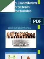 Genética Cuantitativa y Caracteres Multifactoriales